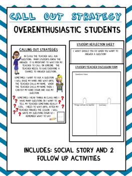 Social Story: Call Out Strategy (Autism/Behavior)