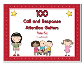 100 Fun Call & Respond Attention Grabbers - Posters in Hig