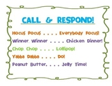 Call & Respond Poster (Classroom Management)