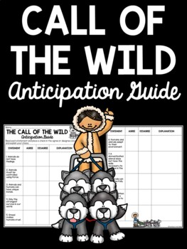 Call of the Wild by Jack London Anticipation Guide