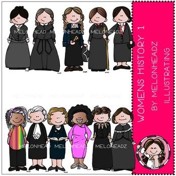 Melonheadz: Women in History clip art Part 1 - COMBO PACK