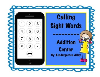 Calling Sight Words: Addition Center