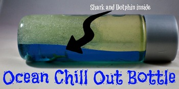 Calm Down Bottle (sensory) Ocean style for the classroom