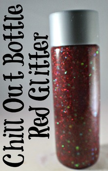 Calm Down Bottle (sensory) Red Glitter for the classroom