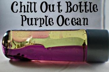 Calm Down Bottle (sensory) purple ocean style for the classroom
