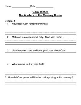 Cam Jansen and The Mystery of The Monkey House Reading Com