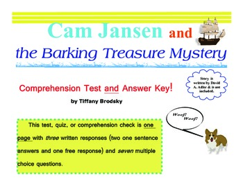 Cam Jansen and the Barking Treasure Mystery Comprehension