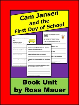 Cam Jansen and the First Day of School Mystery by David A.