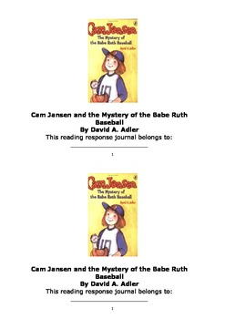 Cam Jansen and the Mystery of the Babe Ruth Baseball Respo
