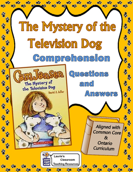 Cam Jansen and the Mystery of the Television Dog Comprehen