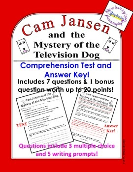 Cam Jansen and the Mystery of the Television Dog Test & An