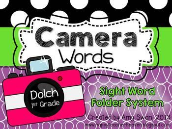 Camera Words - Dolch 1st Grade Sight Word Folder System -