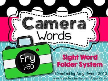 Camera Words - FRY 1-50 Sight Word Folder System - Engage