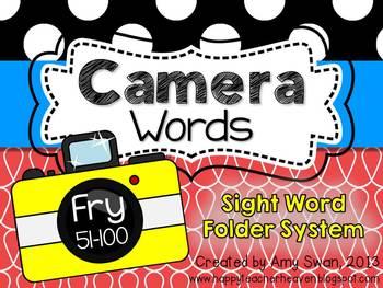 Camera Words - FRY 51-100 Sight Word Folder System - Engag