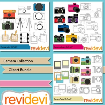 Camera collection clipart bundle (3 packs)