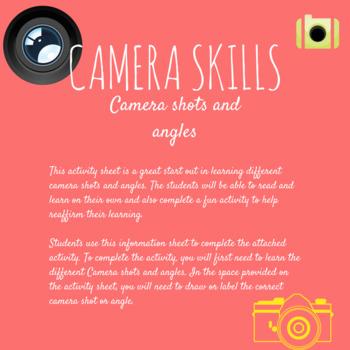 Camera shots and angles activity