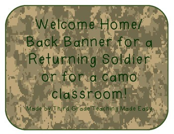 Camo Welcome Banner