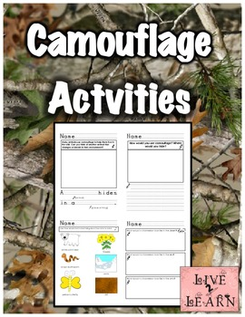 Camouflage Activities for K and 1st