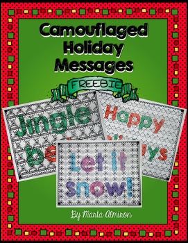 Camouflaged Holiday Messages {FREEBIE}