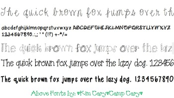 Camp Cary Fonts- Starter Pack