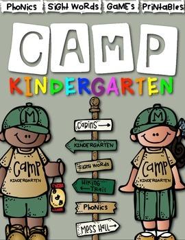 Camp Kindergarten: Literacy Centers and Activities for Kin