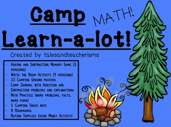Camp Learn-a-Lot MATH version (Adding, Subtracting, Money,