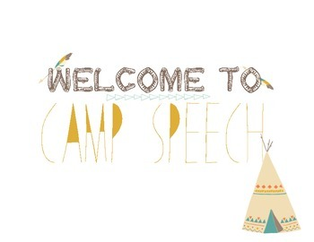 Camp Speech Welcome Sign