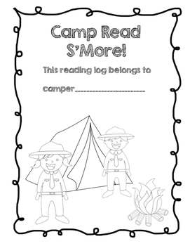 Camp Themed Reading Notebook Cover