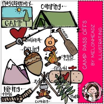 Melonheadz: Camp pass offs clip art - COMBO PACK