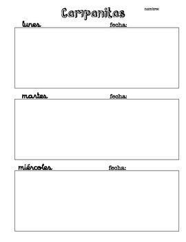 Campanitas - Bell Work Sheet