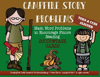 Campfire Story Problem Task Cards and Scoot
