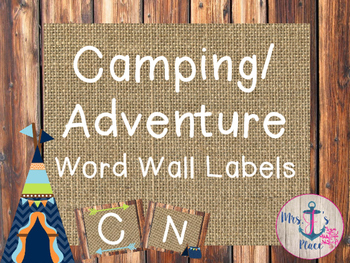 Camping/Adventure Word Wall Labels