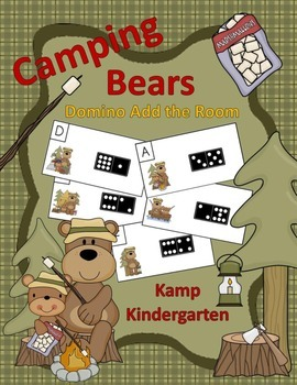 Camping Bears Domino Add the Room (Sums of 0 to 10)