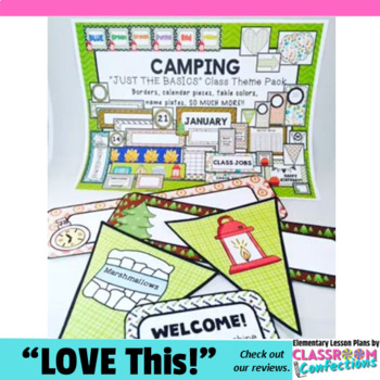 Camping Theme: Camping Classroom Decor Basics: Camping The