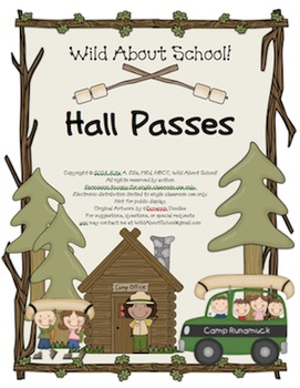 Camping Classroom Hall Passes