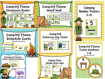 Camping Classroom Theme Bundle