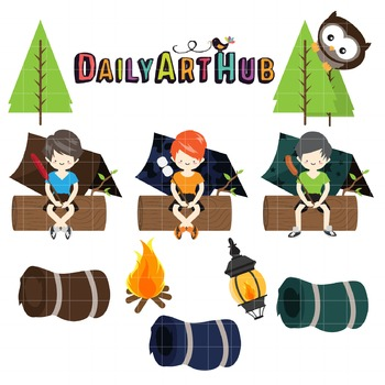 Camping Clip Art - Great for Art Class Projects!