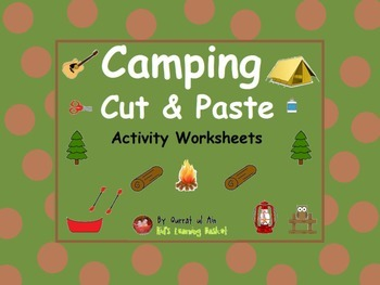 Camping Cut and Paste Activity Worksheets: