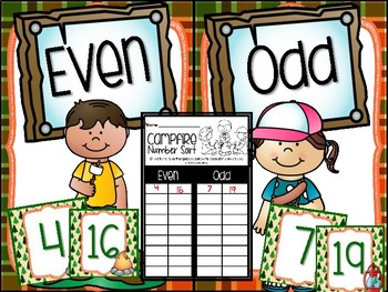 Camping Even and Odd Number Sort Numbers 0-35