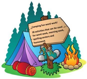 Camping Fun Word Work Packet – 20 words no prep spelling p
