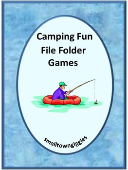 Camping Math and Literacy File Folder Games for Centers or