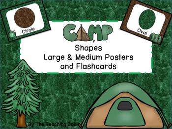 Camping Fun! Shape Posters