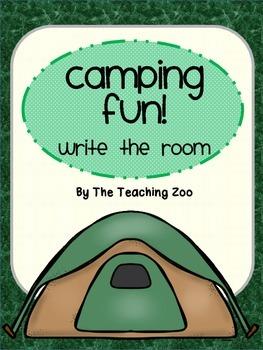 Camping Fun! Write the Room