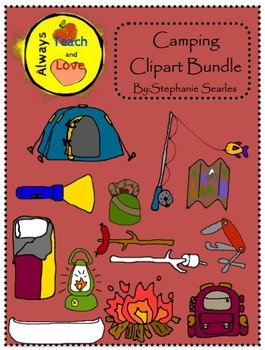 Camping Gear Clipart Bundle