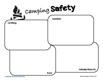Camping Graphic Organizers: Internet Research