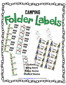 Camping Labels   Bring Back   Keep At Home   Blank Labels