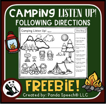 Camping Listen Up! Following Directions FREEBIE
