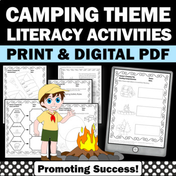 Camping Literacy Unit for Summer School or Fall Back to Sc