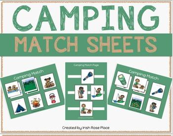 Camping Match Sheets