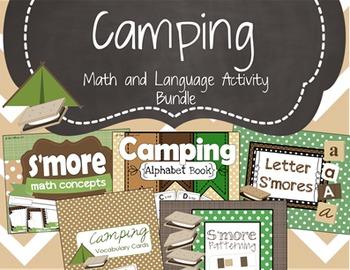 Camping Math and Language Activity Bundle